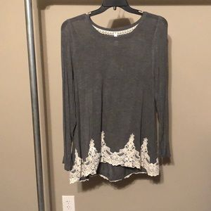 Grey with Lace